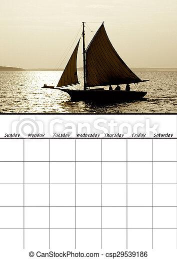 calendario, vuoto - csp29539186