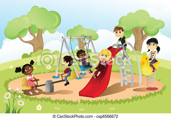 campo di gioco, bambini - csp6566672
