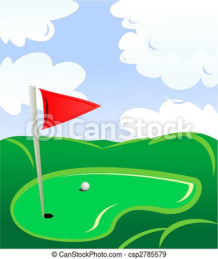campo, golf - csp2785579
