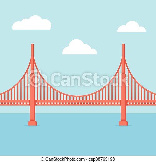 cancello, dorato, ponte - csp38763198