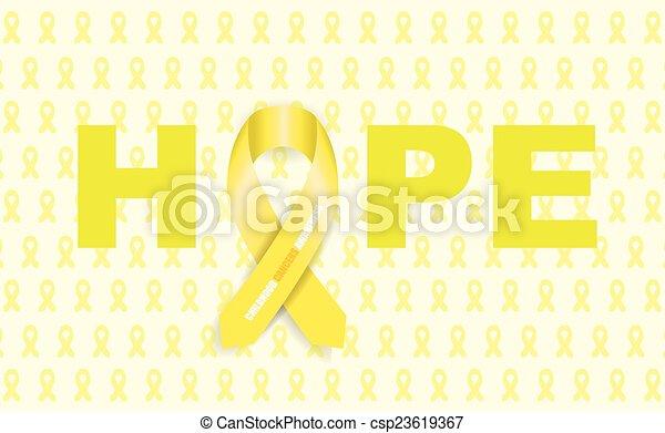 cancro, infanzia, nastro - csp23619367