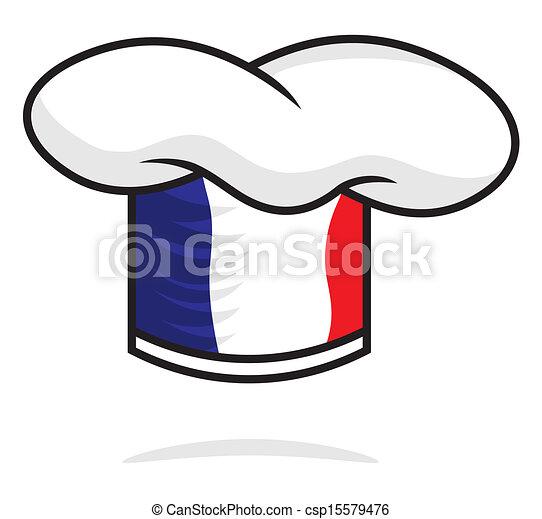 cappello chef, francia - csp15579476