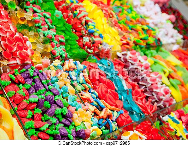 caramella, mostra, gelatina, colorito, dolci - csp9712985