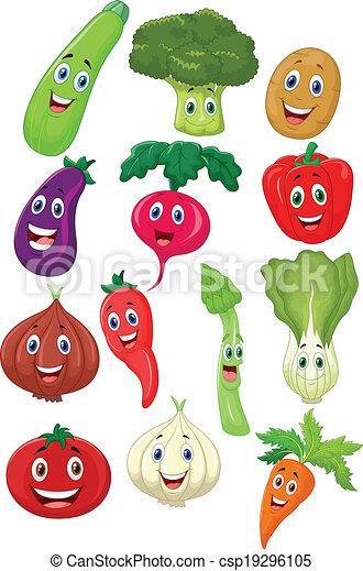 carattere, cartone animato, verdura, carino - csp19296105