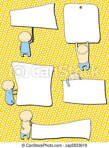 carino, bandiere, bambini - csp5833619