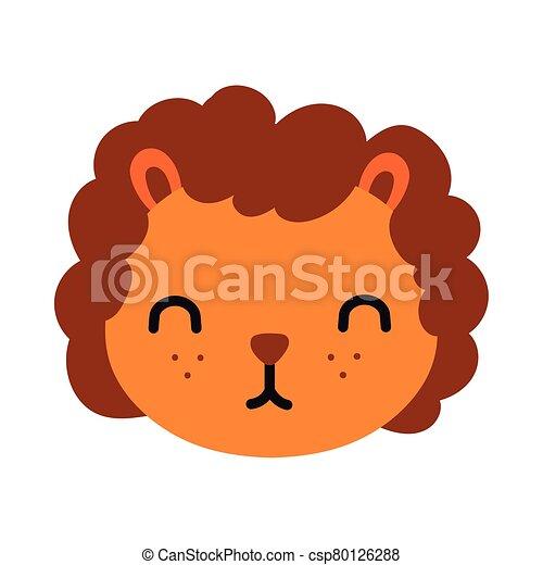 carino, leone, poco, stile, appartamento - csp80126288