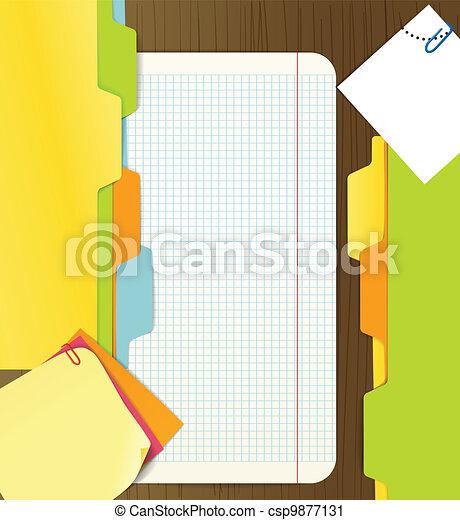 carta, fondo, fogli - csp9877131