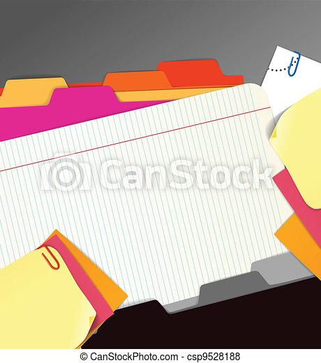 carta, fondo, roba - csp9528188