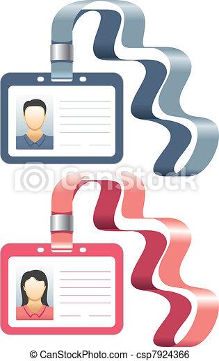 cartelle, distintivo, supporto, id, o - csp7924366