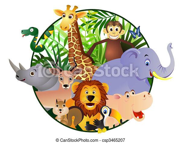 cartone animato, animale - csp3465207
