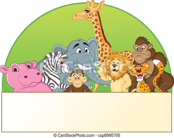 cartone animato, animale - csp8995705