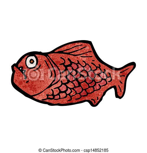cartone animato, piranha - csp14852185