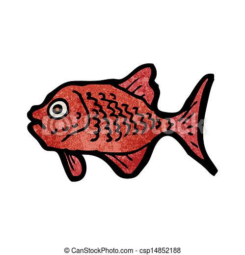 cartone animato, piranha - csp14852188