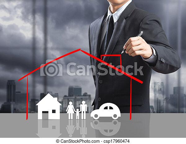casa, concetto, assicurazione - csp17960474
