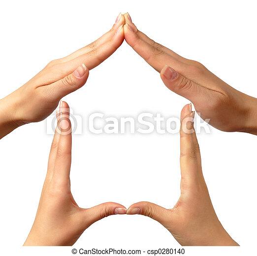 casa, simbolo - csp0280140
