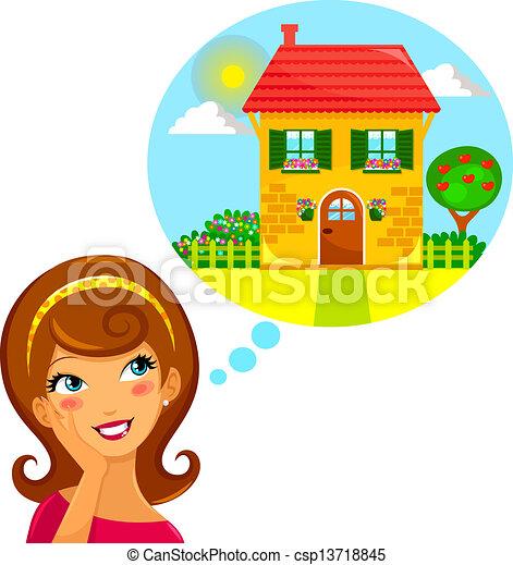 casa, sogno - csp13718845