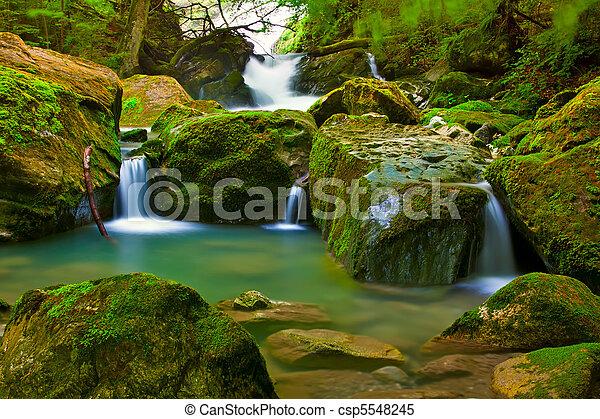 cascata, verde, natura - csp5548245