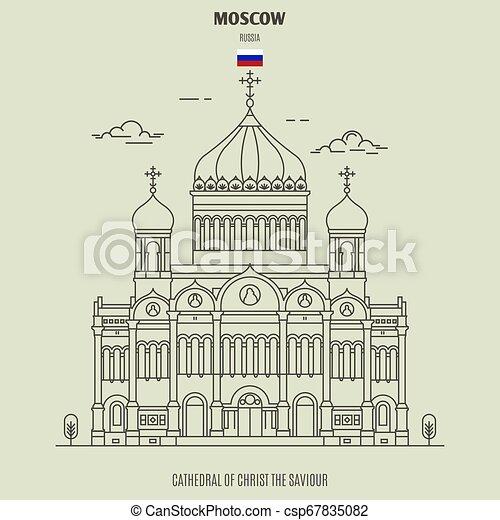 cattedrale, russia., punto di riferimento, salvatore, cristo, icona, mosca - csp67835082