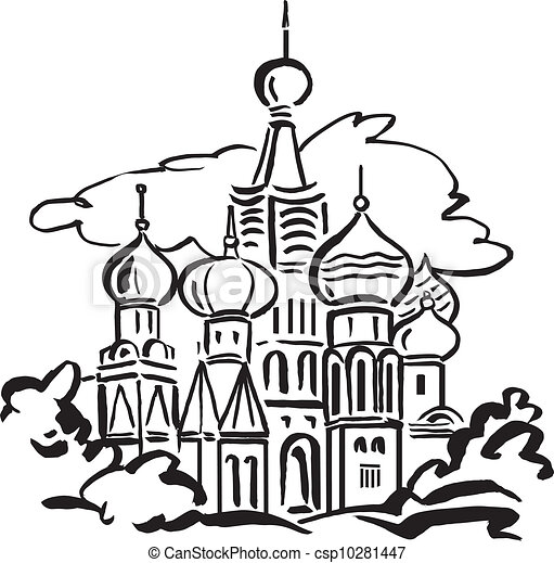 cattedrale, st., basil's, mosca - csp10281447