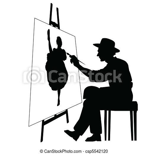 cavalletto, artista - csp5542120
