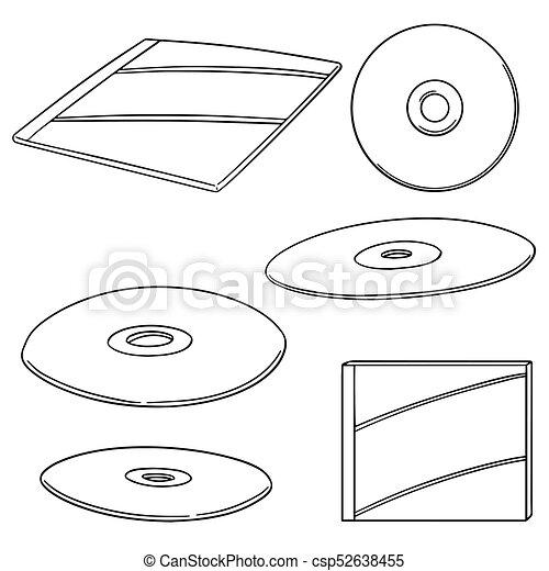 cd, dvd, vettore, set - csp52638455