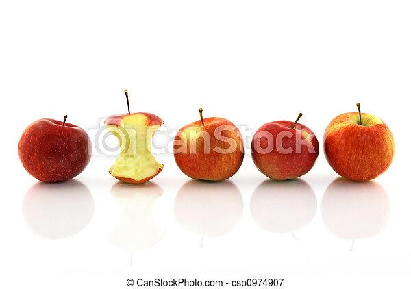 centro, mela intera, mele - csp0974907