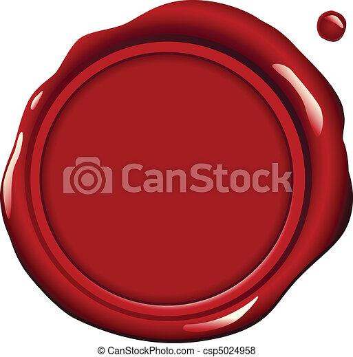 cera, rosso, sigillo - csp5024958