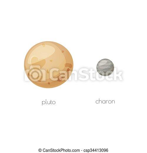 charon, relativo, luna, spazio, plutone, oggetti - csp34413096
