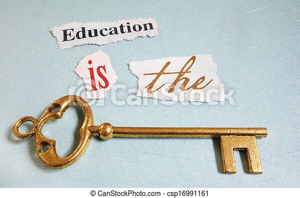 chiave, educazione - csp16991161