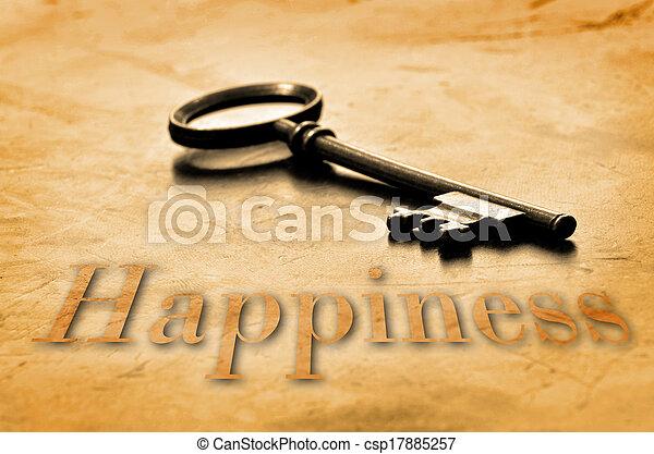 chiave, felicità - csp17885257