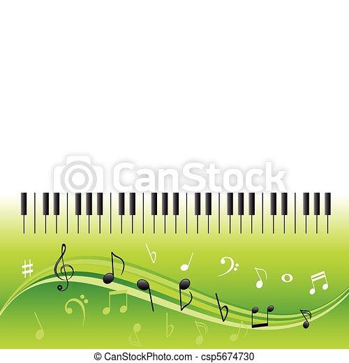 chiavi, note, musica, pianoforte - csp5674730