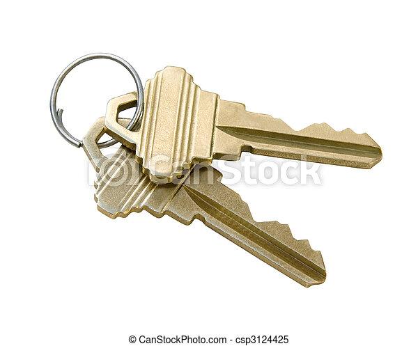 chiavi, percorso, ritaglio - csp3124425