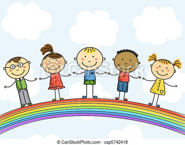 children., illustration., vettore - csp5742418