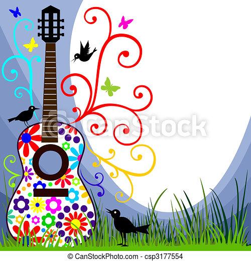 chitarra, prato - csp3177554