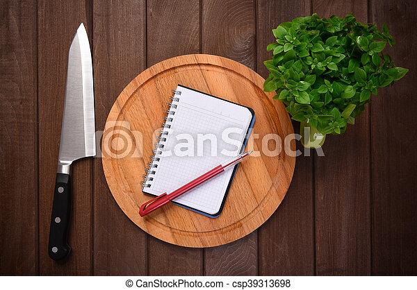 cibo, menu, concept., tagliere, fondo, assi - csp39313698