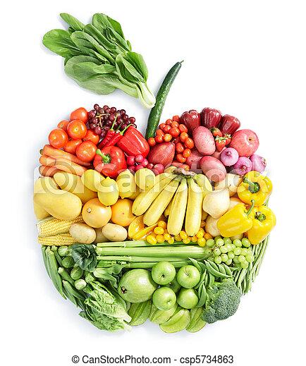 cibo sano, apple: - csp5734863