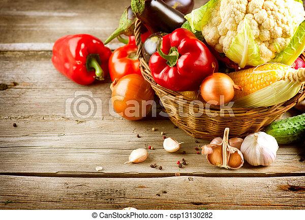 cibo, sano, organico, vegetables., bio - csp13130282
