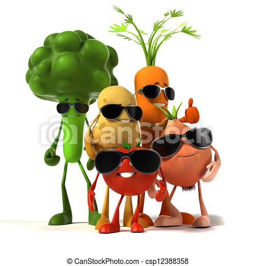 cibo, verdura, -, carattere - csp12388358
