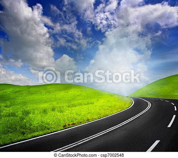 cielo, strada - csp7002548