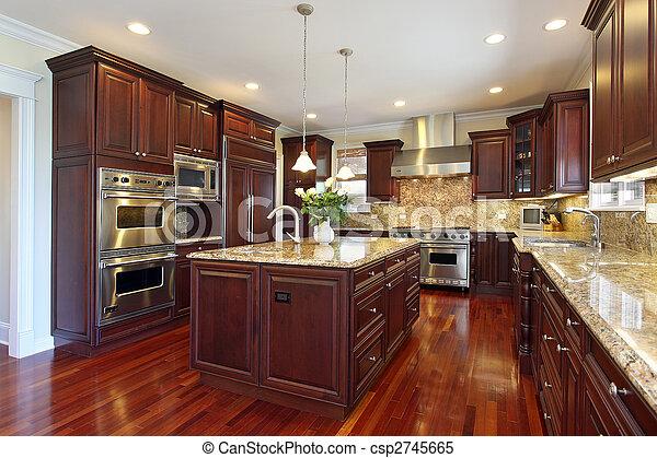 ciliegia, legno, cabinetry, cucina - csp2745665