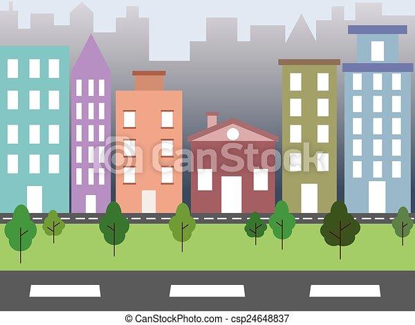 città, ambiente - csp24648837