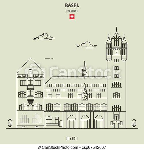città, basel, punto di riferimento, switzerland., salone, icona - csp67542667