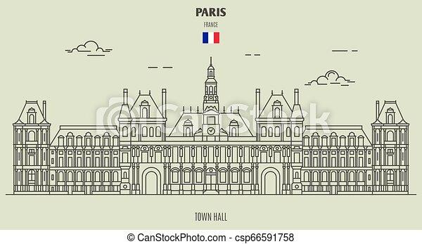 città, parigi, salone, icona, punto di riferimento, france. - csp66591758