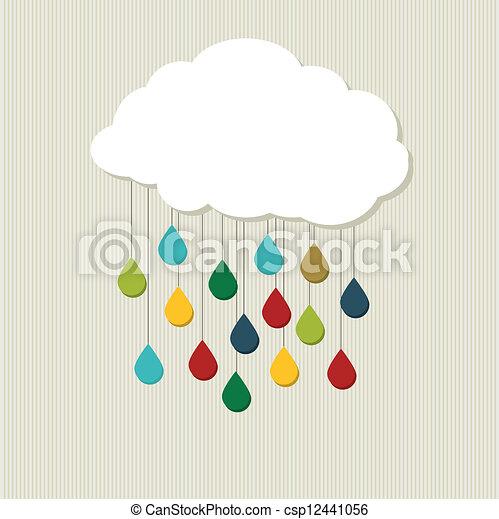 cloud., astratto, vettore, creativo - csp12441056