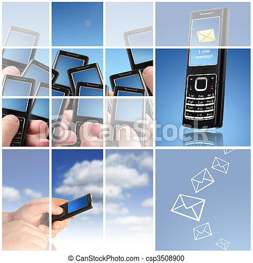 collage., comunicazione, concept. - csp3508900