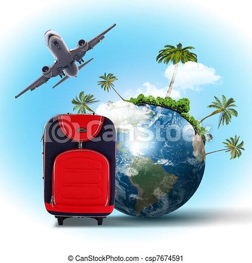 collage, viaggiare turismo - csp7674591