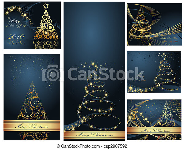collezione, allegro, anno, nuovo, natale, felice - csp2907592
