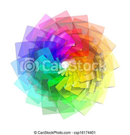 colorare, astratto, spirale, fondo, 3d - csp16174401