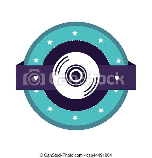 colorare, compact disc, silhouette - csp44491064