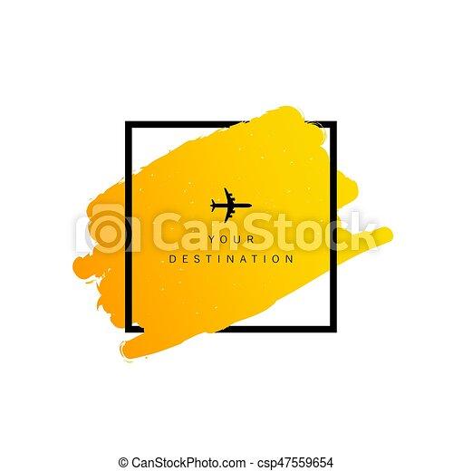 colorare, destinazione corsa, aeroplano, illustrazione - csp47559654